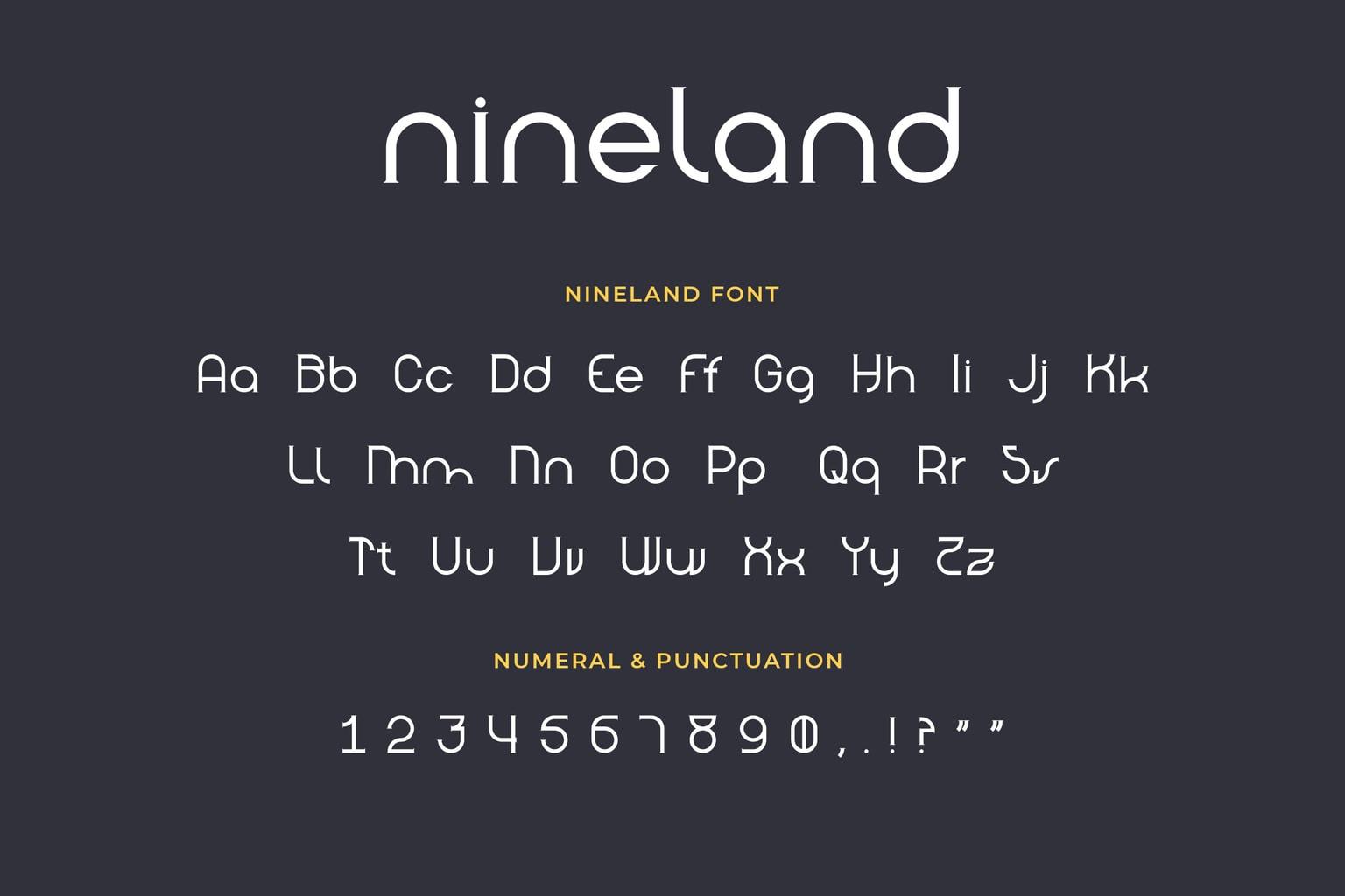 Nineland Geometric Serif Font-3