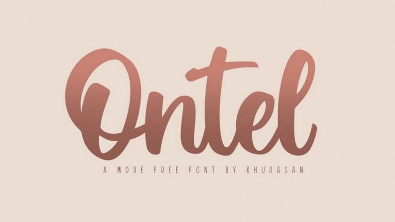 Ontel Bold Script Font-1