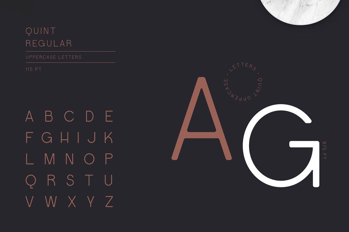 Quint Uppercase Sans Serif Font-2
