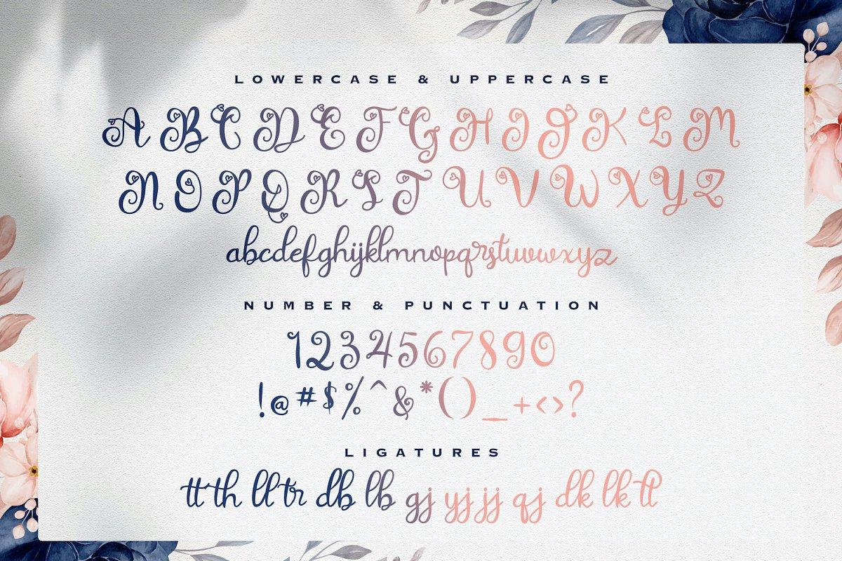 Rathury Decorative Script Font-3