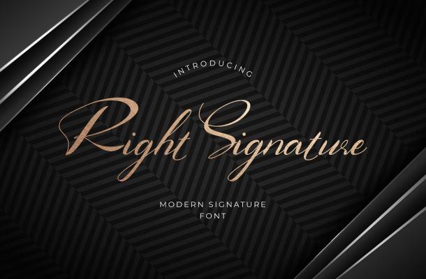 Right Signature Script Font