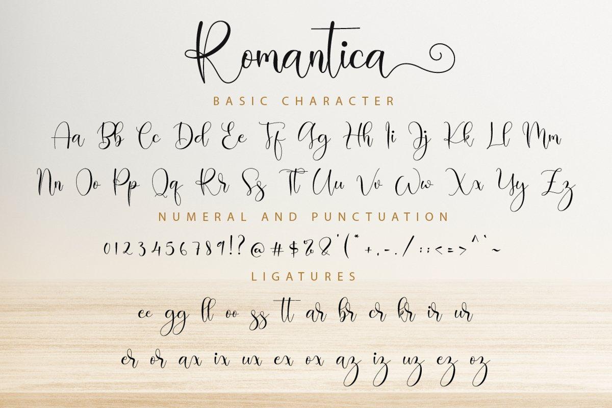 Romantica Calligraphy Script Font-3