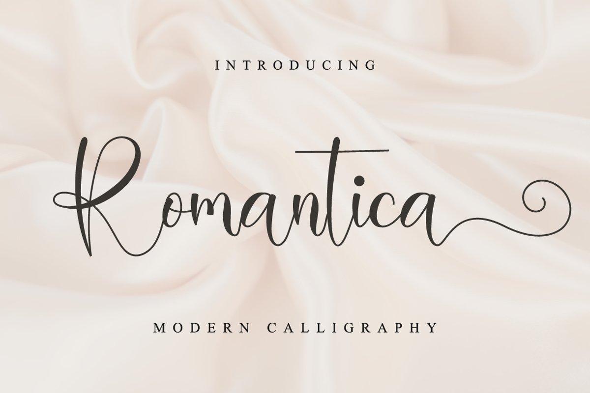 Romantica Calligraphy Script Font