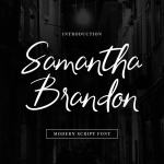 Samantha Brandon Handwritten Font