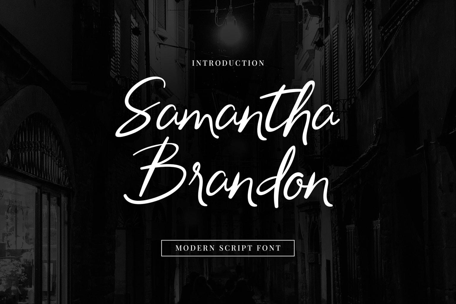 Samantha Brandon Handwritten Font