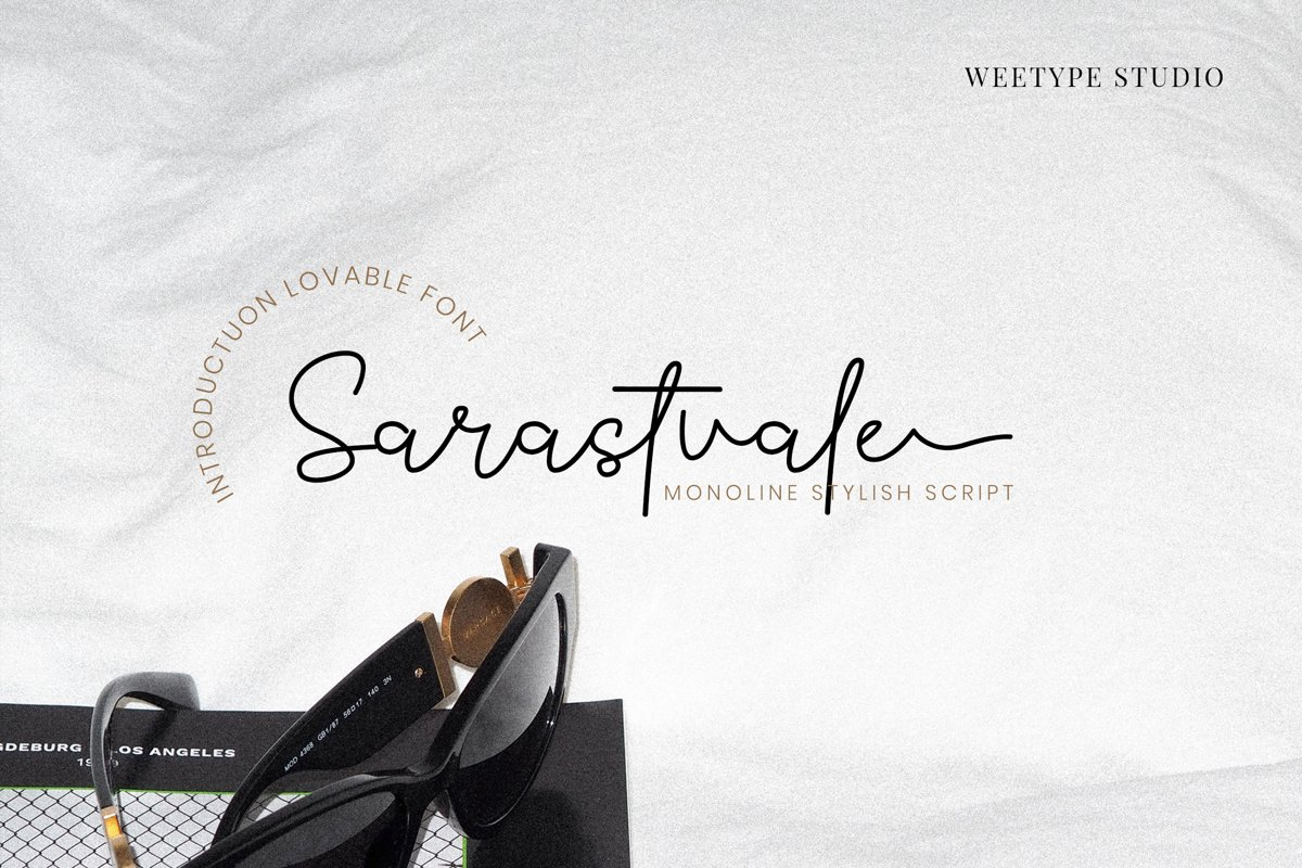 Sarastvale Monoline Signature Script Font