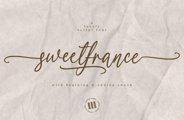 Sweetfrance Handwritten Script Font