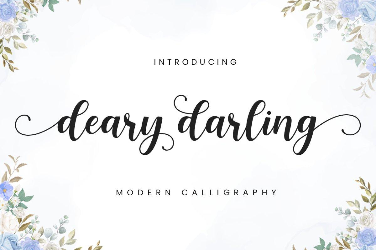 Deary Darling Font-1