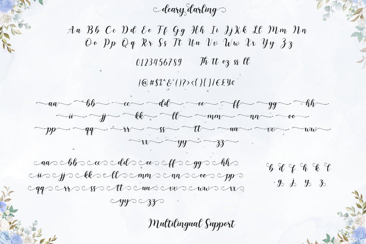Deary Darling Font-3