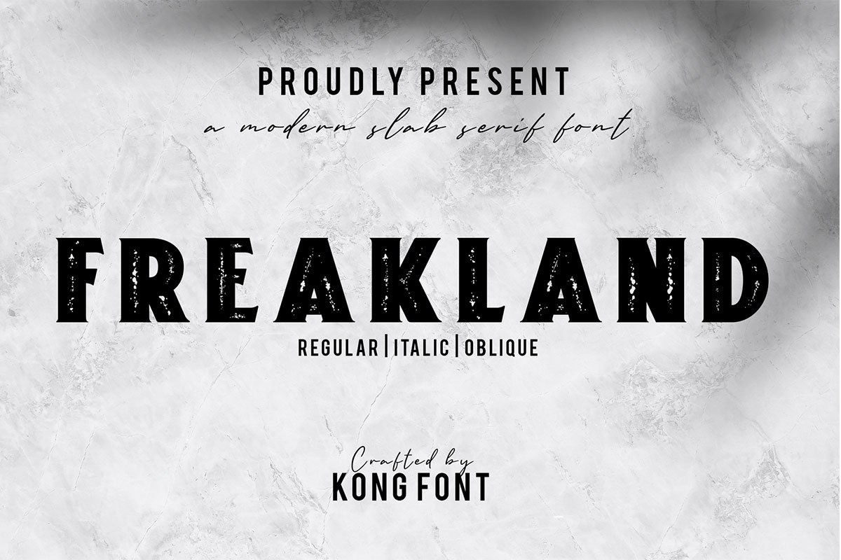Freakland Serif Display Font