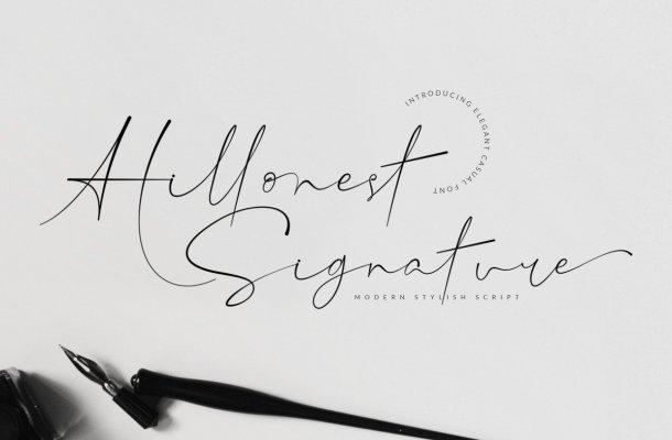 Hillonest Handwritten Signature Font