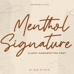 Menthol Signature Handwritten Font