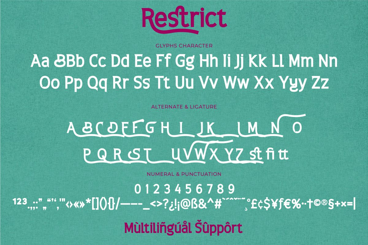 Restrict Font-3