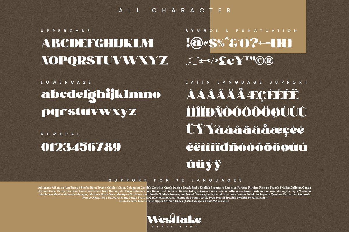 Westlake Font-3