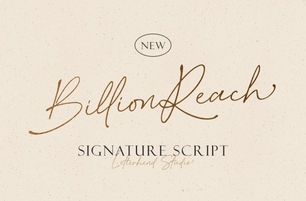 Billion Reach Font