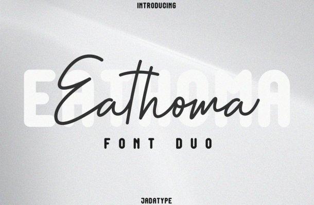Eathoma Font Duo