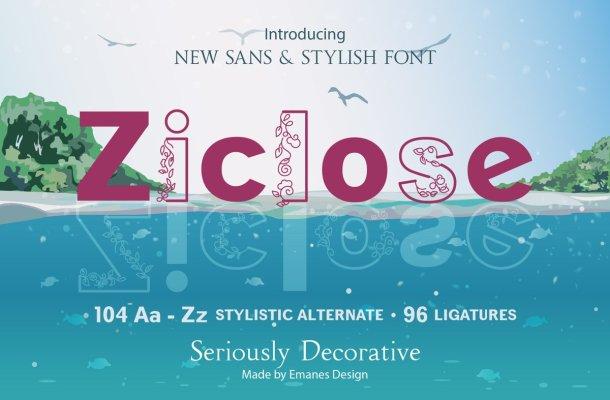 Ziclose Font