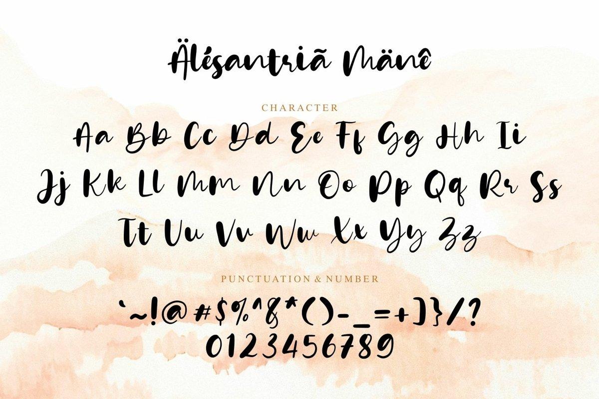 Alesantria Mane Font-3
