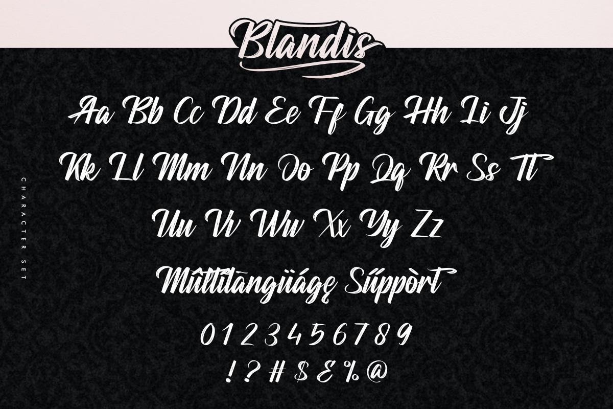 Blandis Font-3