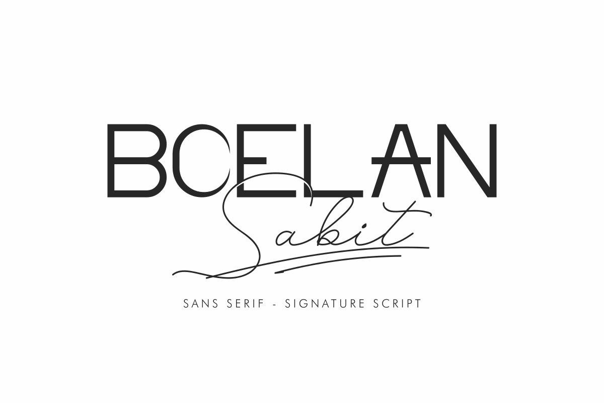 Boelan Sabit Font