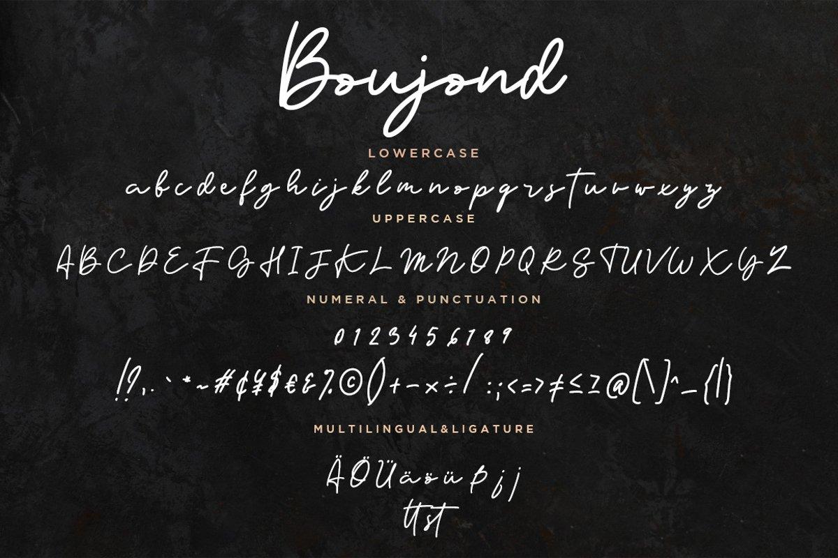Boujond Font-3