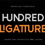 Hundred Ligatture Font