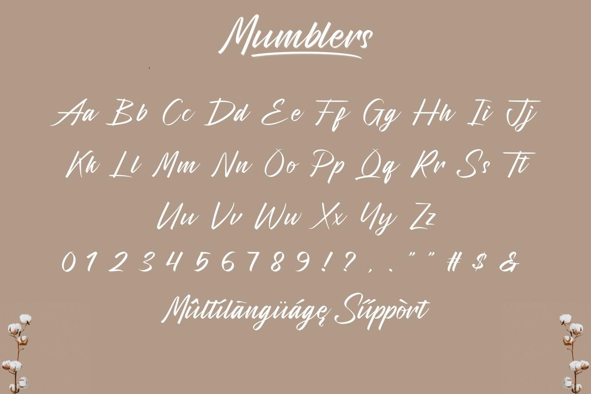 Mumblers Font-3