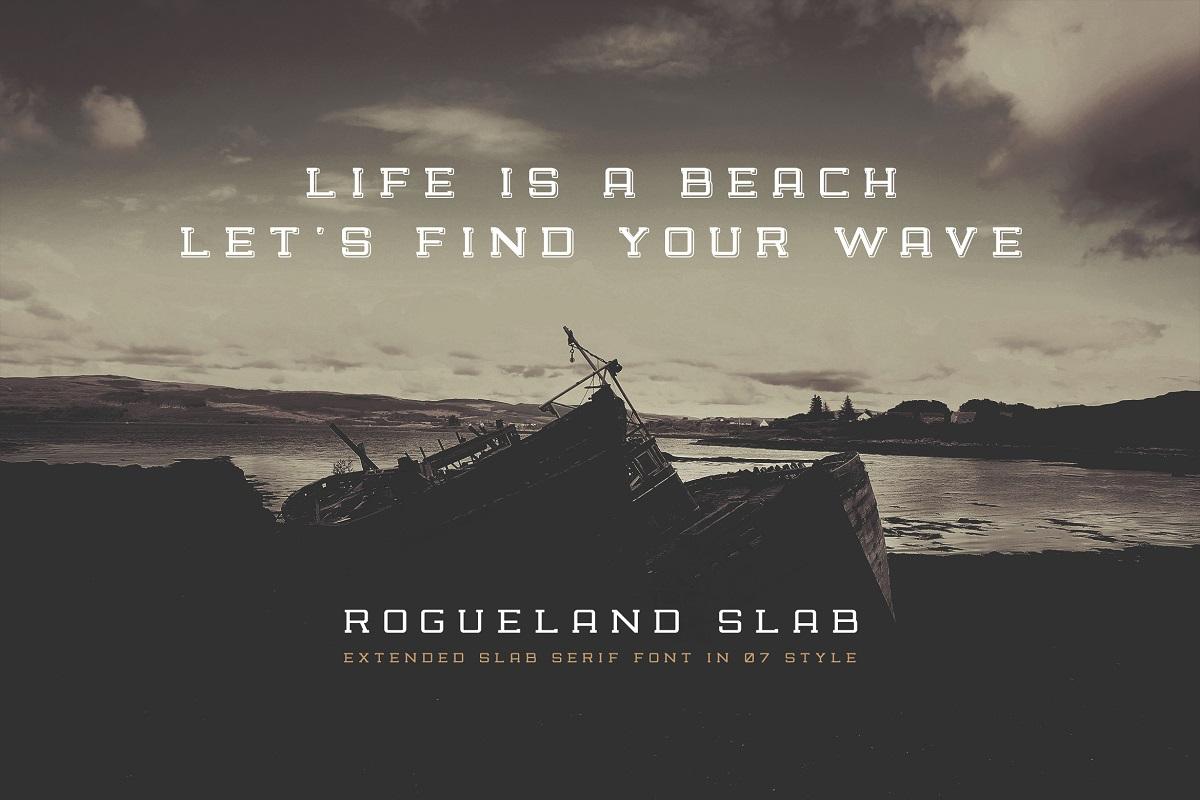 Rogueland Slab Font-3