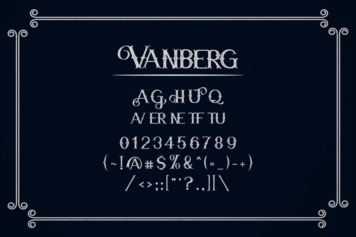 Vanberg Font-3