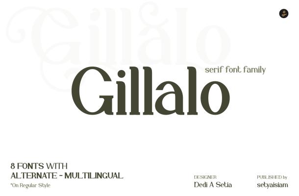 Gillalo Font