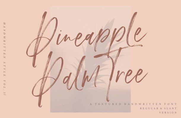 Pineapple Palm Tree Font