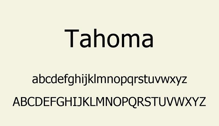 Tahoma Font-2