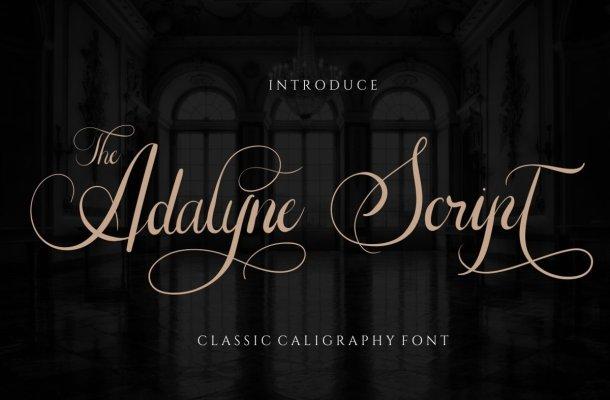 The Adalyne Script Font