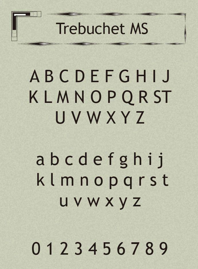 Trebuchet MS Font-2