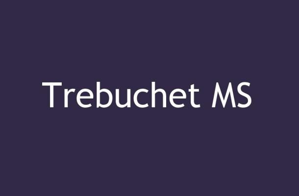 Trebuchet MS Font