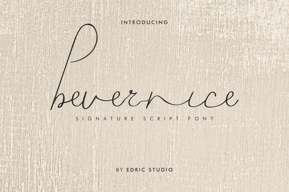 Bevernice Font-2