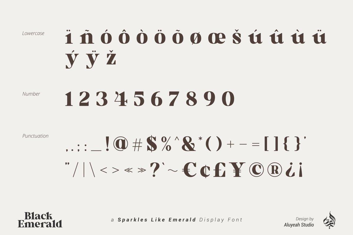 Black Emerald Font-3