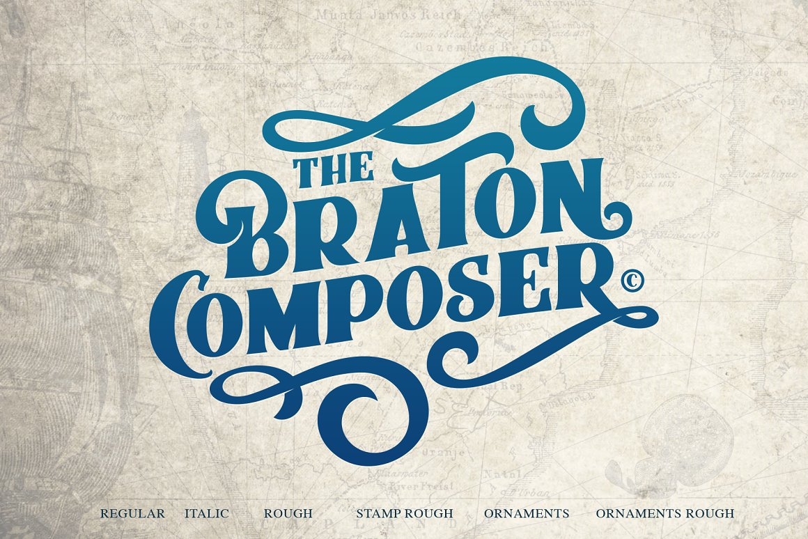 Braton Composer Font