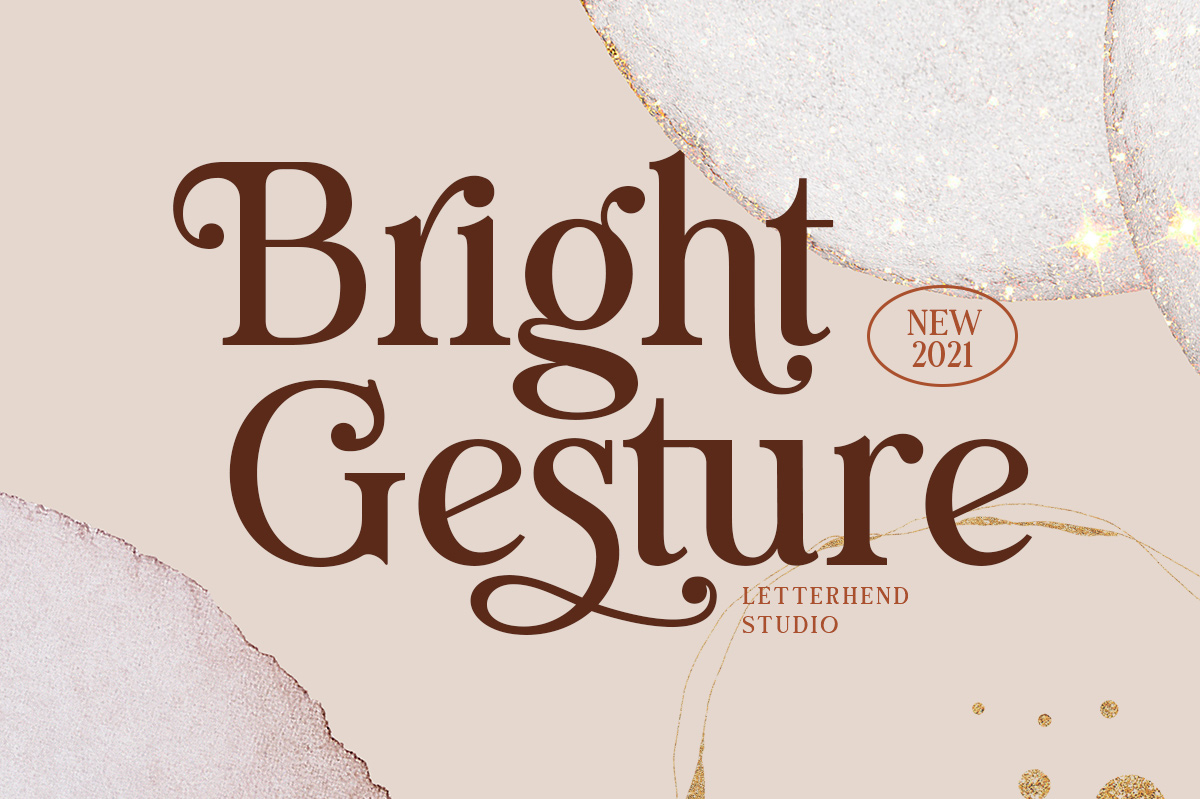 Bright Gesture Font