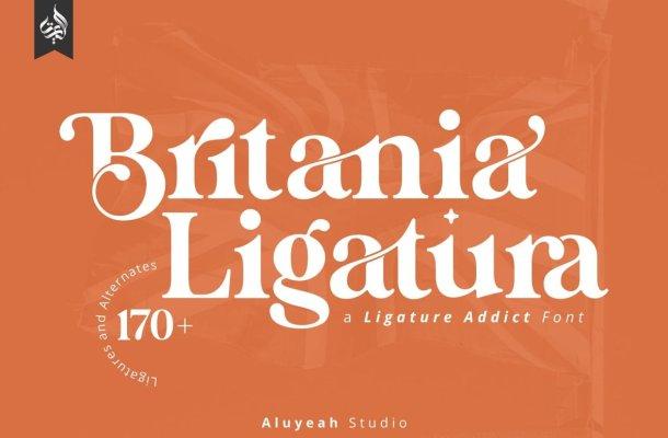 Britania Ligatura Font