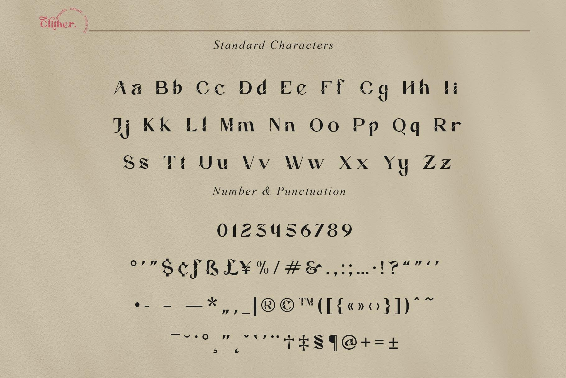 Glither Font-3
