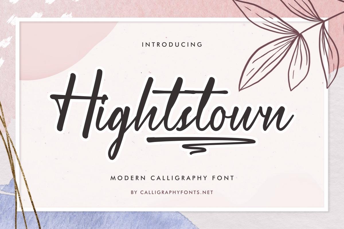 Hightstown Font