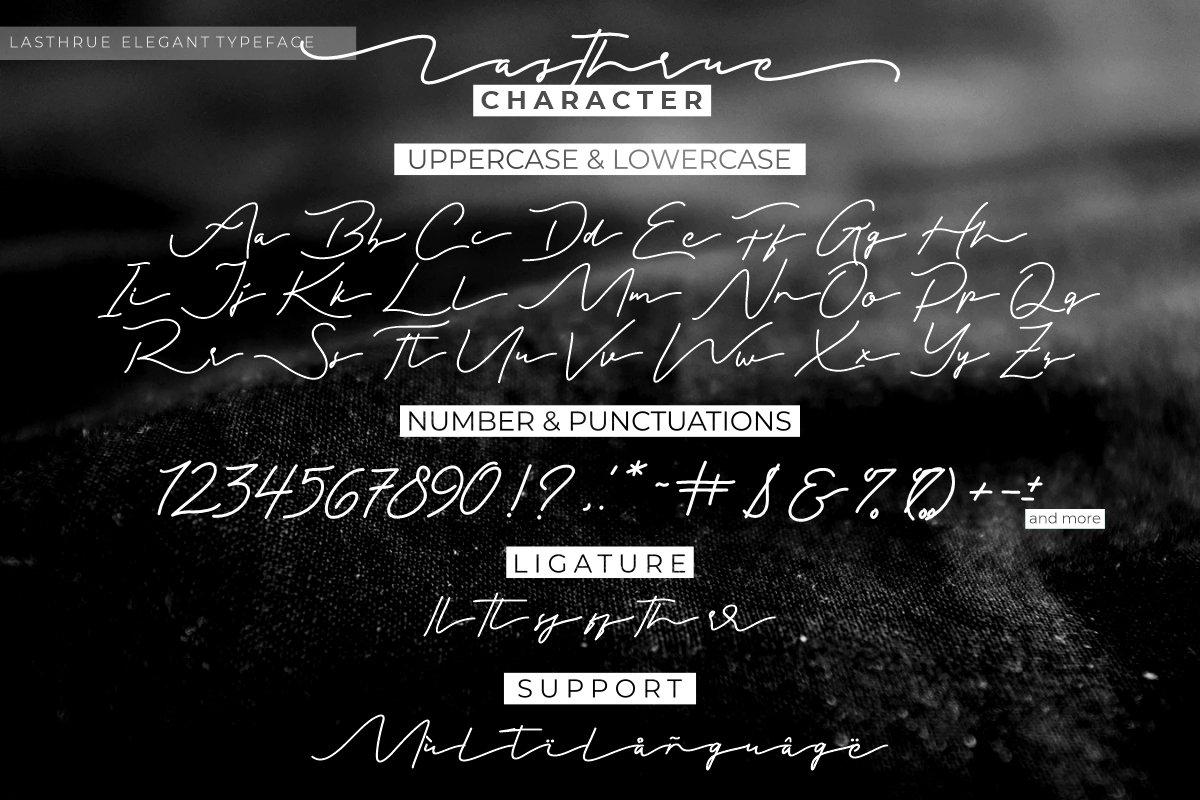 Lasthrue Font-3