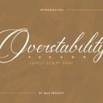 Overstability Font