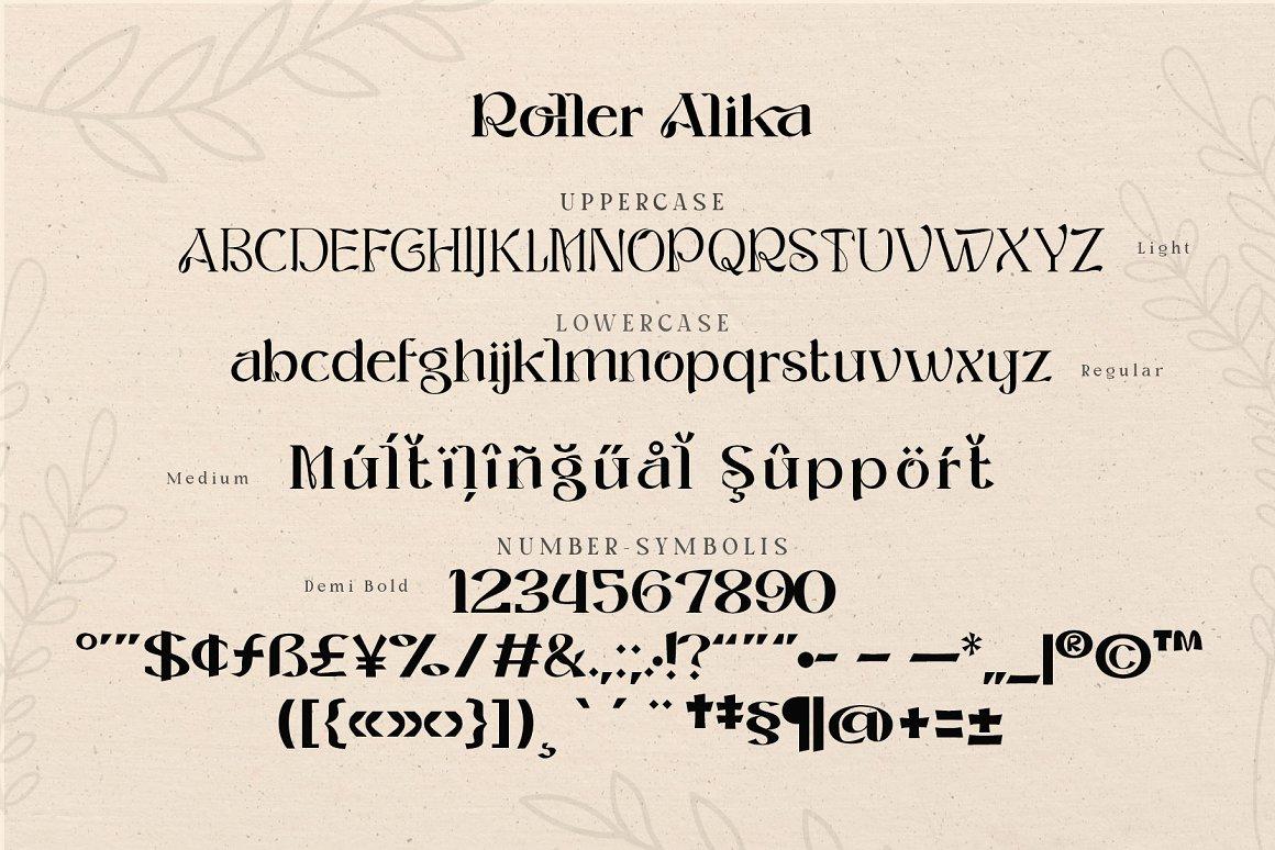 Roller Alika Font-3