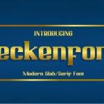 Beckenford Font