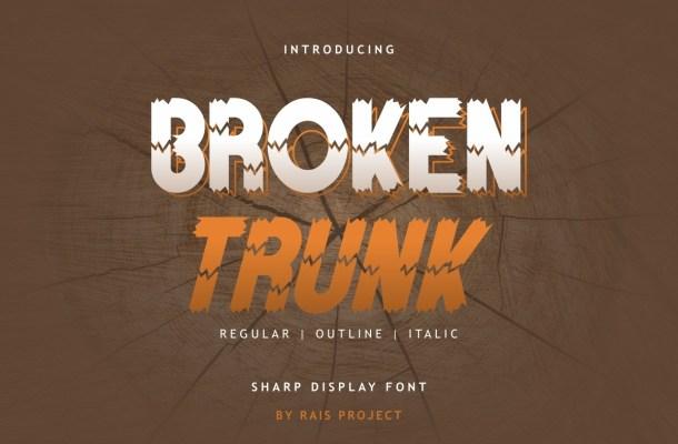 Broken Trunk Font