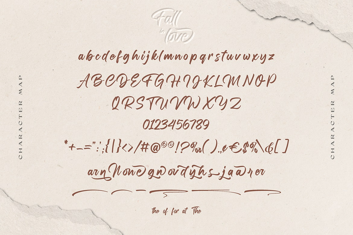 Fall in love Font-3
