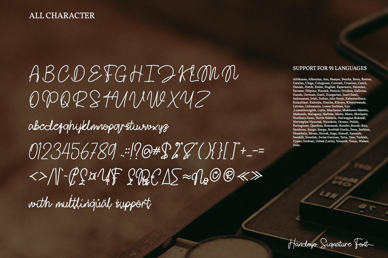 Handoyo Signature Font-3