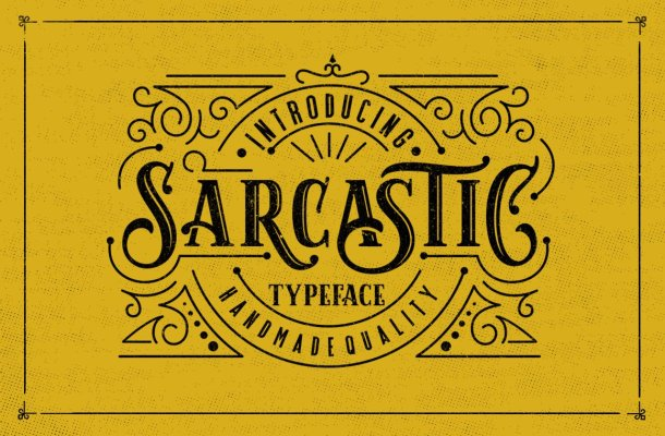 Sarcastic Font